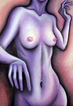 Her Mood Swings V. | Pastel on paper | 44× 64 cm