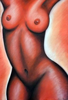 Her Mood Swings I. | Pastel on paper | 44× 64 cm