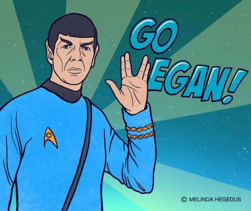 Live Long, Prosper and Let Others Do The Same - Digital Vegan Art by Melinda Hegedus