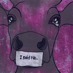 I said No Digital Vegan Art by Melinda Hegedus