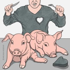 Heartless Digital Vegan Art by Melinda Hegedus
