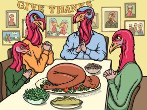 Thanksgiving Part II. Digital Vegan Art by Melinda Hegedus