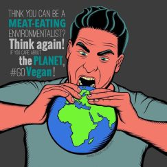 Environmentalist Digital Vegan Art by Melinda Hegedus