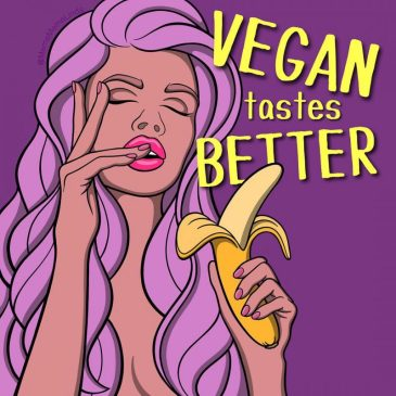 Vegan Tastes Better Digital Vegan Art by Melinda Hegedus