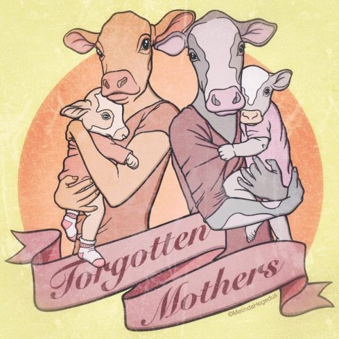 Forgotten Mothers Digital Vegan Art by Melinda Hegedus